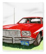 Starsky Hutch 1974 Ford Gran Torino Sport Fleece Blanket