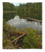 Starvation Lake - British Columbia Fleece Blanket