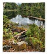 Starvation Lake Reflections Fleece Blanket