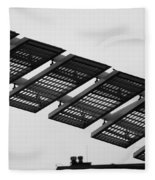 Starway To... In Black And White Fleece Blanket