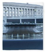 State Capital Fountain Fleece Blanket