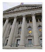 State Capitol Madison Wisconsin Fleece Blanket