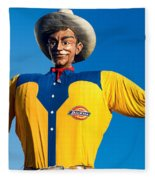 State Fair Of Texas Big Tex Yellow Fleece Blanket