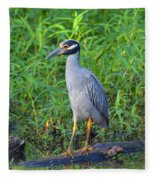 Stately Heron Fleece Blanket