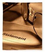 Statement With Glasses Fleece Blanket