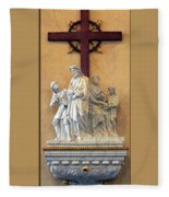 Station Of The Cross 01 Fleece Blanket