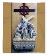 Station Of The Cross 06 Fleece Blanket