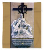 Station Of The Cross 07 Fleece Blanket