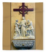Station Of The Cross 10 Fleece Blanket