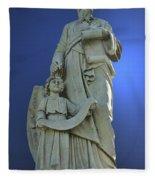 Statue 05 Fleece Blanket