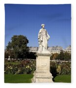 Statue At The Jardin Des Tuileries In Paris France Fleece Blanket