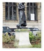 Statue In A Paris Park Fleece Blanket