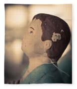 Statue Of A Boy Praying Fleece Blanket