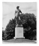 Statue Of David Delaware Park Buffalo Ny Fleece Blanket