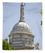 Statue Of Justice On Top Of New York City Hall Fleece Blanket