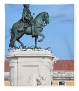 Statue Of King Jose I In Lisbon Fleece Blanket