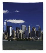 Statue Of Liberty Ferry 2 Fleece Blanket