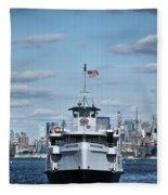 Statue Of Liberty Ferry Fleece Blanket