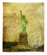 Statue Of Liberty Fleece Blanket