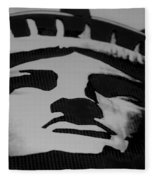Statue Of Liberty In Black And White Fleece Blanket