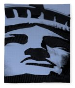 Statue Of Liberty In Dark Cyan Fleece Blanket
