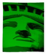 Statue Of Liberty In Green Fleece Blanket
