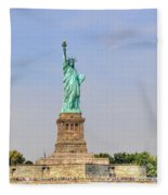 Statue Of Liberty Macro View Fleece Blanket