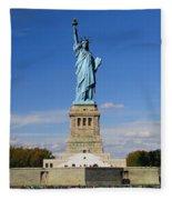 Statue Of Liberty Tourism Fleece Blanket