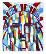 Statue Of Liberty With Colors Fleece Blanket