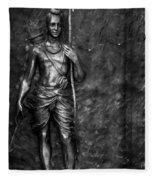 Statue Of Lord Sri Ram Fleece Blanket