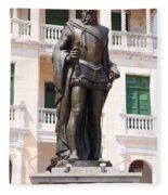 Statue Of Pedro De Heredia Fleece Blanket