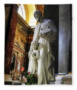 Statue Of St Stephen's Fleece Blanket