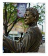 Statue Of Us President Bill Clinton Fleece Blanket