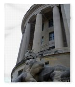 Statue Outside Of Federal Trade Commission Fleece Blanket