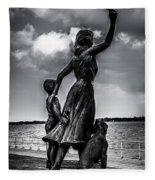 Statue St Clair Mi Fleece Blanket