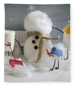 Stay Puff Snowman Fleece Blanket