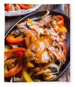 Steak Fajitas Fleece Blanket