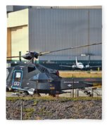 Stealth Air Attack Helicopter Fleece Blanket