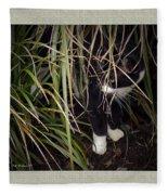 Stealth Cat Fleece Blanket