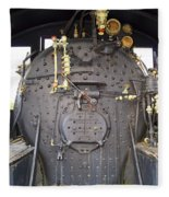 Steam Engine 444 Fire Box And The Controls Fleece Blanket