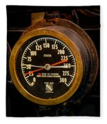 Steam Engine Gauge Fleece Blanket