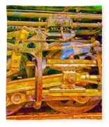 Steam Engine Linkage 3 Fleece Blanket