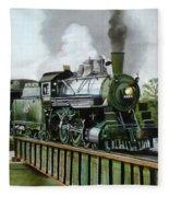 Steam Engine Locomotive Fleece Blanket