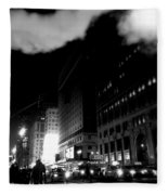 Steam Heat - New York At Night Fleece Blanket