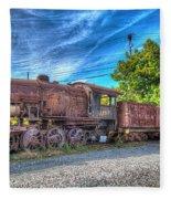 Steam Locomotive No 1151 Norfolk And Western Class M2c Fleece Blanket