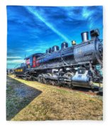 Steam Locomotive No 4 Virginian Class Sa  Fleece Blanket