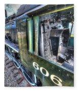 Steam Locomotive Norfolk And Western  No. 606 Fleece Blanket