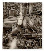 Steam Power Sepia Fleece Blanket