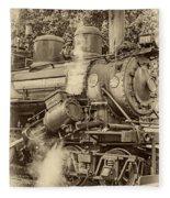 Steam Power Sepia Vignette Fleece Blanket