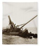 Steam Schooner Celia Steam SchoonerBuilt In 1884Lost At Pt Joe Fleece Blanket